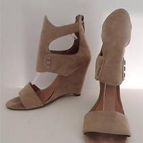 Rosegold Sandals Shoes Booties Sz 40 Beige Suede Wedge Photo