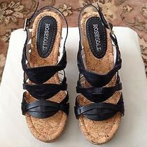 Rosegold Woman's Tacey Sling Back Black Sandal Size 8.5 Photo