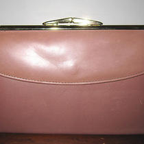 Rosewood Hue Premium Leather Germany Frame Clutch Wallet Bag Vintage New Lk Photo