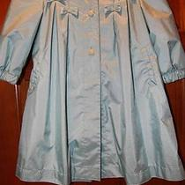 Rothschild Trench Jacket Coat Toddler Girl 4t Teal Aqua Hood Photo