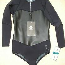 Roxy 1mm Satin Front Zip Wetsuit Swimsuit Uk 38 Black D42 Neoprene Springsuit Photo