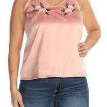 Roxy 45 Womens New 1542 Pink Embroidered Tank Top L Bb Photo