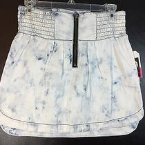 Roxy Acid Wash Denim Skirt Size 1 Photo