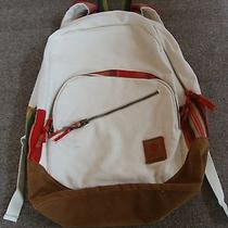 Roxy Backpack Ivory With Plaid Photo