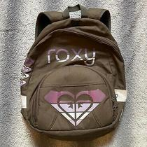 Roxy Backpack Womens Bag Brown Pink White Bookbag Hearts One Size Fits All Photo