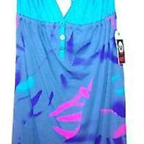 Roxy Blue/gray/pink/purple Short Sundress Size Medium Free Shipping Photo