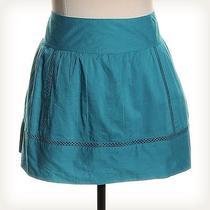 Roxy Blue Solid Mini Skirt Sz 5 Photo