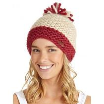 Roxy Boost Beanie Winter Toque Hat Brand New With Tags Red/burgundy White Photo