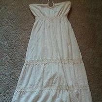Roxy Cream Size Medium Maxi Dress Photo
