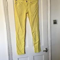 Roxy Denim Size 30w 30l Long Yellow Jeans.  (T6) Photo