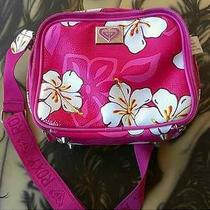 Roxy Floral Cosmetic Makeup Lunch Bag or Purse Photo
