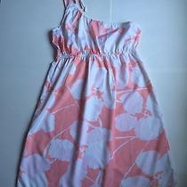 Roxy Floral Peach and White Dress Size 7 Photo