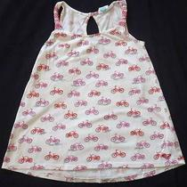 Roxy Girl Top White Pink Size Medium Bicycle Pattern Quiksilver Euc R129 Photo