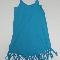 Roxy Girls Medium Tank Tops Breeze Babe Aqua Beach Cover Up Photo