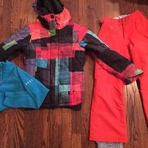 Roxy Girls Size M 9/10 Kids Snowboarding Ski Fleece Only (Other Items Listed Too Photo