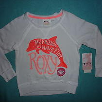 Roxy Girls White Dolphin Friends Have Fins Sweatshirt Pullover 4t Baby/toddler Photo
