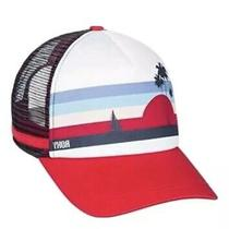 Roxy Juniors Dig This Trucker Snapback Hat  Upstick Red White 202 One Red Girl Photo