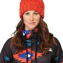 Roxy Juniors Tram Cable Knit Beanie-Orange Photo