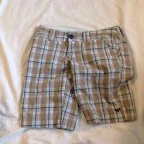 Roxy Khaki Plaid Shorts Size 1 Photo