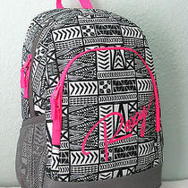 Roxy Laptop Backpack School Tote Bag Pink/gray Nwt Photo