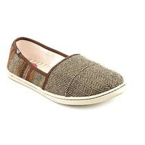 Roxy Matey Womens Size 9 Brown Textile Flats Shoes Used Photo