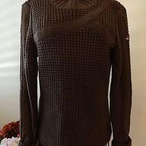 Roxy Necessities Brown Acrylic Sweater Size Large  Cute Photo