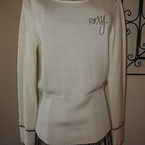 Roxy Necessities White Acrylic Sweater Large  New Photo