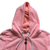 Roxy Neon Pink Lightweight Hooded Zip Up Jacket Hoodie Size Xs Pockets Orange-17 Photo