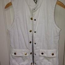 Roxy Off-White Corduroy Vest Size M Photo