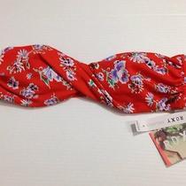Roxy Pacsun Red Twist Front Padded Bandue - Halter Swimwear Swimsuit Top Sz L Photo