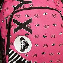 Roxy Pink Bike Umbrella Backpack Book Bag New Photo