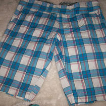 Roxy  Plaid Shorts  Sz 13   Cute   Photo