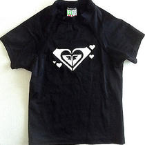 Roxy Rash Guard Top Swimwear Childrens Girls Size Large Short Sleeve Black Photo