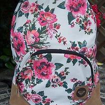 Roxy Shabby Rose Flower Backpack School Book Bag New Photo