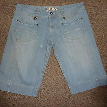 Roxy Shorts Size L Antique Blue Denim Photo