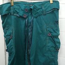 Roxy Size 10 Green Cargo Shorts Euc Photo