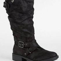 Roxy Size 6 M Atlanta Faux Suede Perforated Black Mid Calf Boots - New in Box Photo