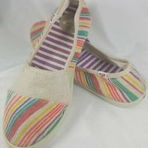 Roxy Slides Moccasin Shoes Size 7-Multi Colored Beach Boho Hippie Flats / Slides Photo