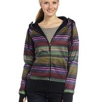 Roxy Snow Juniors Easy Rider Snow Fleece Hoodie  Woven Stripe  Large Photo