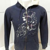 Roxy Sweatshirt Hoodie Blue Girls Xl Fleece Lined Hood Photo