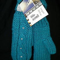 Roxy Turquoise Mittens Snow Collection Size M Photo