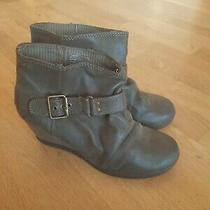Roxy Wedge Ankle Boots Size 10 Booties Photo