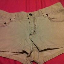 Roxy Women Beige Khaki Corduroy Shorts Size 1 Used Excellent Condition Photo