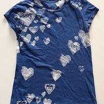 Roxy Women's Sheer Heart T Shirt Size Small Tee Heart Photo