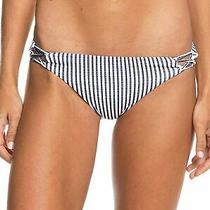Roxy Women's Swimwear White Size Large L Reversible Bikini Bottom 35 428 Photo