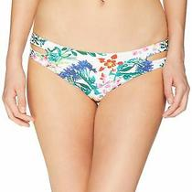 Roxy Women's Swimwear White Size Small S Reversible Bikini Bottom 35 815 Photo