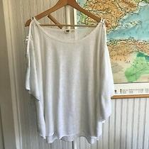 Roxy Women's Top White Batwing Sleeve Large Photo