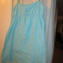 Roxy Womens Blue Spaghetti Strap Top Lace Eyelet Size S Photo