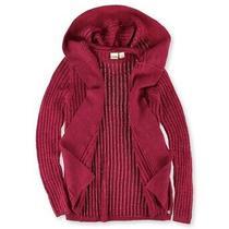 Roxy Womens Holloway Hooded Cardigan Sweater Red Medium Photo