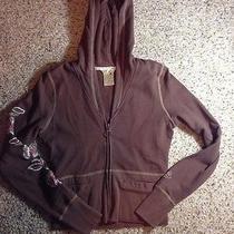 Roxy Womens Juniors Hoodie Zip Up Size Xs Chocolate Cocoa Photo
